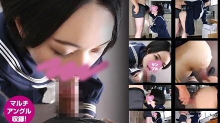 GETCHU-4011896 「◯学生のマ◯コ気持ちいい?」SEX大好きなセーラー服美少女をアパートに連れ込み玄関でハメ撮り!