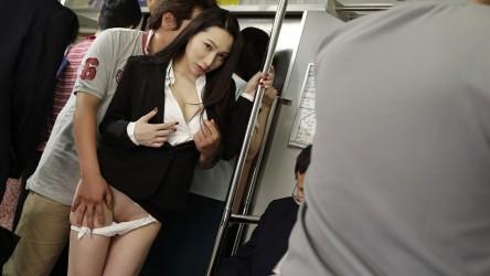 Carib-061920-001 Beautiful Office Lady In The Train