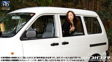 Paco-060510_107 露出不倫妻 〜車窓から巨乳をポロリ〜